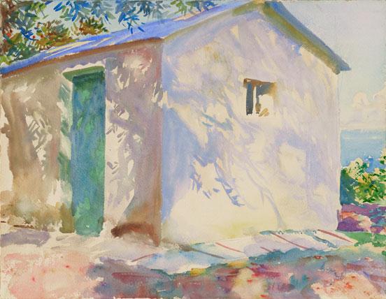 "John Singer Sargent water-color ""Corfu"""