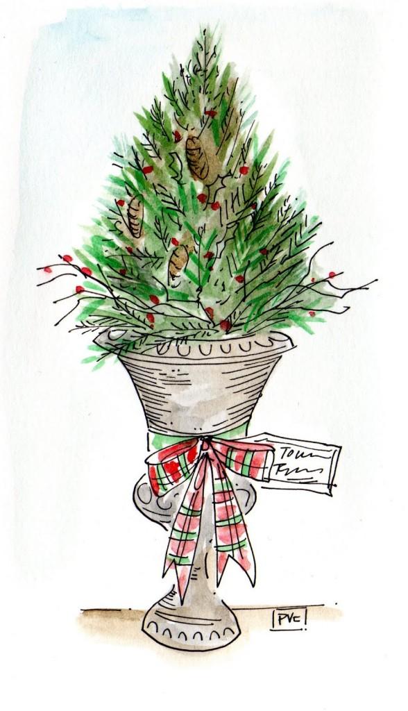 holiday pot-tree109