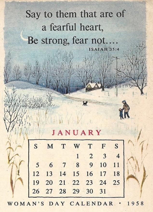 Woman's Day calendar